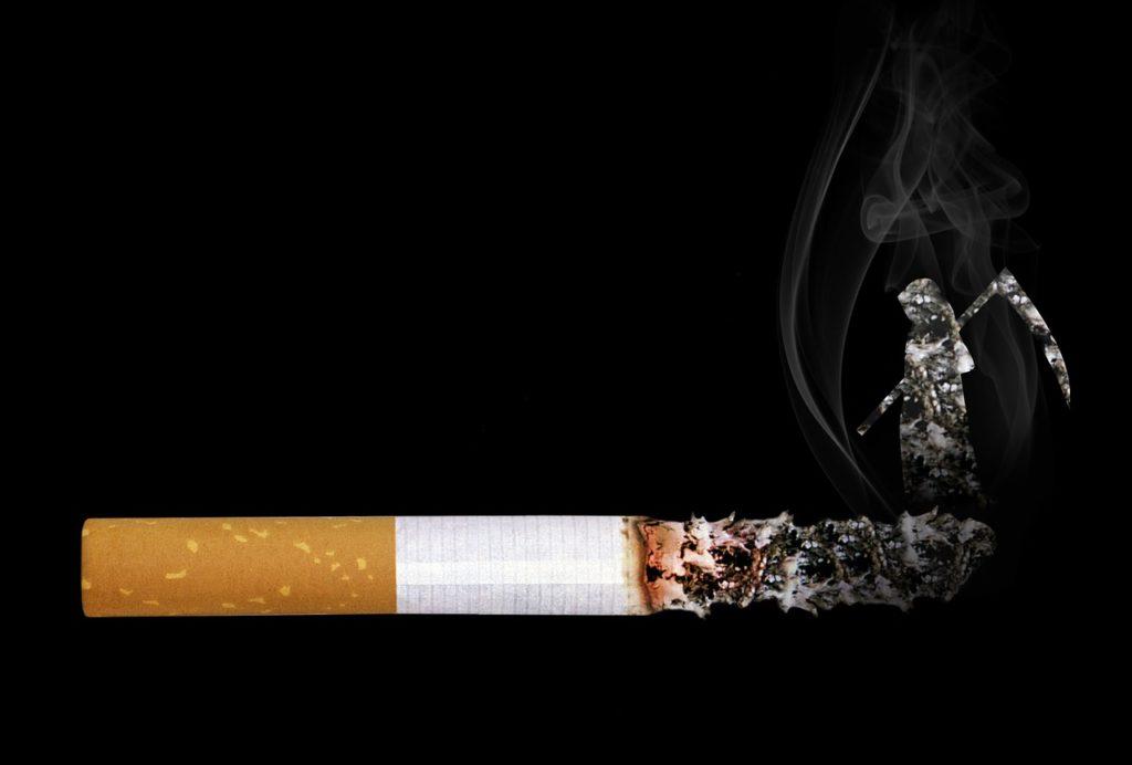 cigarette, grim reaper, smoke