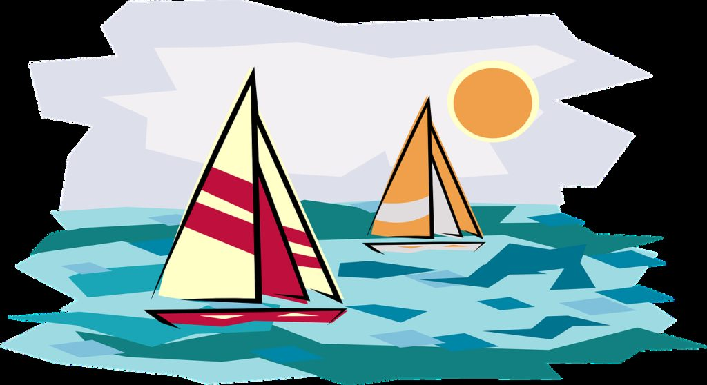holiday, sailboat, sunset