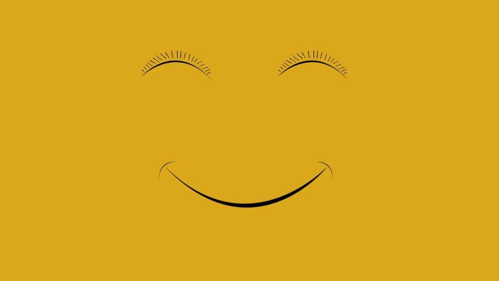 smile, eyes, yellow
